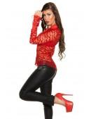 Красная ажурная блузка MF1218 (101218) - оригинальная одежда, 2