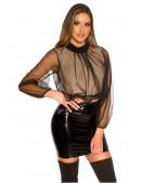 Укороченная блуза с прозрачным рукавом MF1222 (101222) - материал, 6