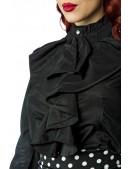 Черная блуза с жабо Belsira (101156) - 3, 8