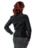 Черная блуза с жабо Belsira (101156) - цена, 4