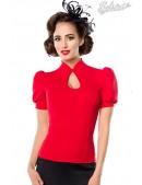 Красная блузка в стиле Ретро (101189) - foto