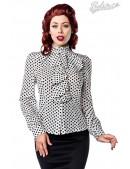 Ретро-блузка в горошек (101160) - foto