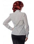 Ретро-блузка в горошек (101160) - 3, 8