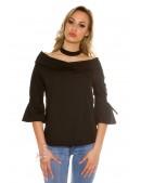 Хлопковая блуза с чокером KC1224 (101224) - материал, 6