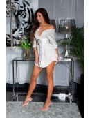 Рубашка-платье из лиоцелла (бежевый) (103028) - материал, 6