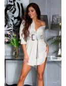 Рубашка-платье из лиоцелла (бежевый) (103028) - foto