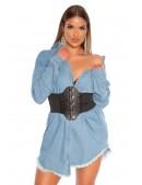 Джинсовая рубашка-платье KC3029 (103029) - 4, 10