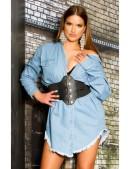 Джинсовая рубашка-платье KC3029 (103029) - foto
