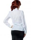 Белая блуза с жабо (101154) - цена, 4