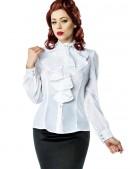 Белая блуза с жабо (101154) - оригинальная одежда, 2