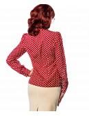 Блузка с жабо в стиле Ретро (101159) - оригинальная одежда, 2