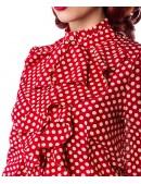 Блузка с жабо в стиле Ретро (101159) - 3, 8