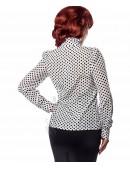 Ретро-блузка в горошек (101160) - оригинальная одежда, 2