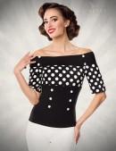 Блуза с лифом в горошек Belsira (101184) - foto