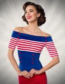 Блузка в стиле 50-х (101185) - foto