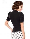 Женская черная блуза B187 (101187) - оригинальная одежда, 2