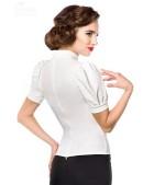 Приталенная блузка в стиле Ретро Belsira (101190) - 3, 8