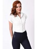 Белая блузка в стиле Ретро XC196 (101196) - foto