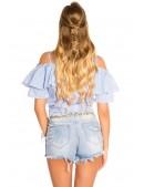 Летняя блузка с завязками спереди MF1201 (101201) - 3, 8
