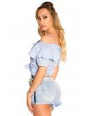 Летняя блузка с завязками спереди MF1201 (101201) - оригинальная одежда, 2