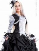 Блузка с пышными рукавами и шнуровкой (101109) - foto