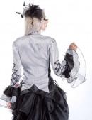 Блузка с пышными рукавами и шнуровкой (101109) - цена, 4