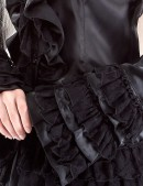 Блузка с жабо со шнуровкой (101108) - оригинальная одежда, 2