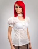 Белая блузка с декольте X-Style (101182) - материал, 6