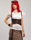 Белая блузка с декольте X-Style (101182) - оригинальная одежда, 2