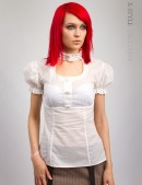 Белая блузка с декольте X-Style (101182) - foto