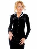 Блузка с мехом в стиле Ретро (101165) - цена, 4