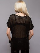 Черная сетка с губами (101151) - оригинальная одежда, 2
