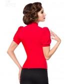 Красная блузка в стиле Ретро (101189) - оригинальная одежда, 2