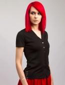 Блузка с V-образным вырезом X1180 (101180) - оригинальная одежда, 2