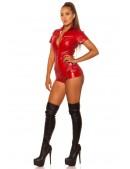 Красный комбинезон под кожу KouCla (129194) - оригинальная одежда, 2