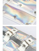 Серебристое болеро с одним рукавом X4122 (104122) - материал, 6