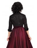 Жаккардовое черное болеро с рукавом 3/4 X125 (104125) - оригинальная одежда, 2