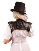 Кожаное болеро X102 (104102) - оригинальная одежда, 2