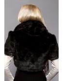 Черное меховое болеро X4117 (104117) - оригинальная одежда, 2