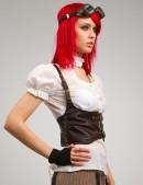 Кожаная жилетка X014 (131014) - оригинальная одежда, 2