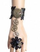 Браслет с кольцом в стиле Стимпанк XJ170 (710170) - оригинальная одежда, 2