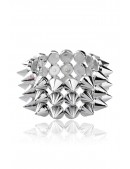 Серебристый браслет с шипами X137 (710137) - цена, 4