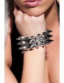 Серебристый браслет с шипами X137 (710137) - foto