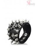 Кожаный браслет с шипами CC186 (710186) - foto