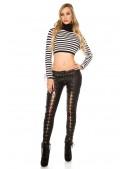 Женские брюки со шнуровкой по всей длине KC080 (108080) - цена, 4