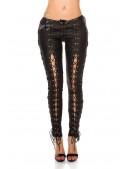 Женские брюки со шнуровкой по всей длине KC080 (108080) - материал, 6