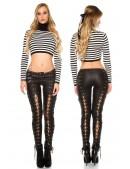 Женские брюки со шнуровкой по всей длине KC080 (108080) - 4, 10