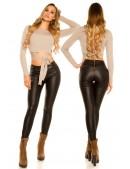 Кожаные брюки на флисе New Play (108089) - цена, 4