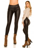 Кожаные брюки на флисе New Play (108089) - материал, 6