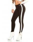 Черные брюки с лампасами KouCla (108091) - оригинальная одежда, 2
